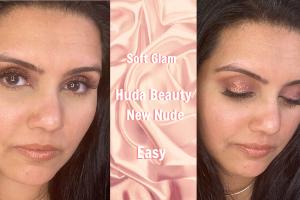 Easy Eyeshadow Tutorial | Huda Beauty New Nude Palette | Soft Glam