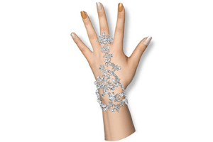 BriLove Crystal Leaf Teardrop Adjustable Ring Bracelet - Dream with intent - Sonali Ankola