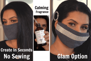 In SECONDS create SAFEST DIY Face Mask | Calming Fragrance | Glam Option
